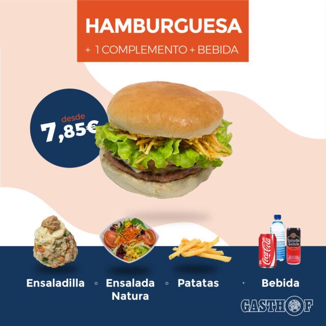 Pack menú hamburguesa